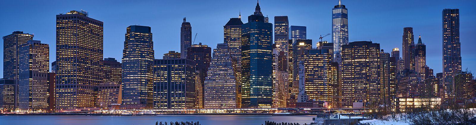 曼哈顿城市风景3440x1440超高清壁纸精选