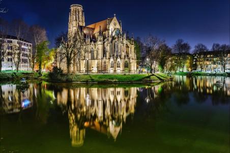 国外教堂风光4k图片