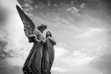 和平 天使 雕塑 平静 6K图片