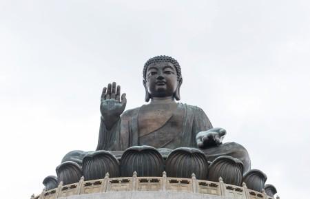 香港大屿山天坛青铜大佛像4k高清图片