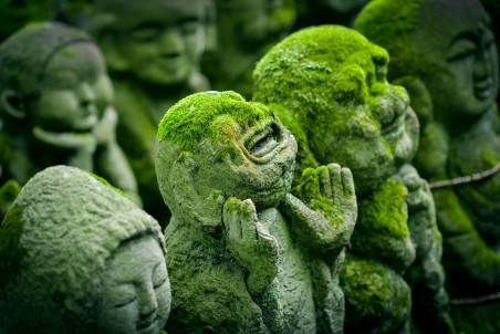 日本京都 雕像 地藏菩萨 4k图片
