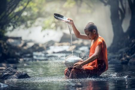 小和尚 曼谷 佛 佛教 清洗 4k图片