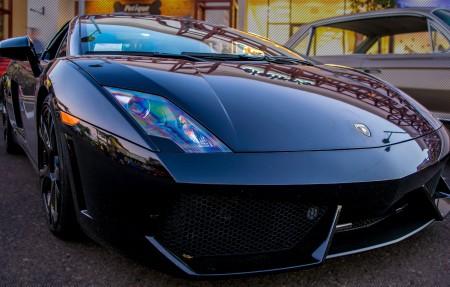兰博基尼车展摄影黑车豪华车4K超高清壁纸精选