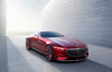 红色奔驰 迈巴赫 8K跑车超高清壁纸推荐