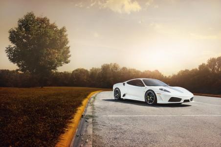 白色法拉利F430跑车4K超高清壁纸精选