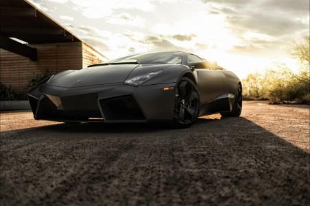 超级跑车黑色兰博基尼4K超高清壁纸推荐