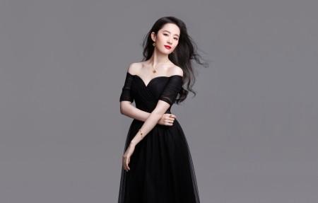 刘亦菲黑色裙子4K超高清壁纸推荐