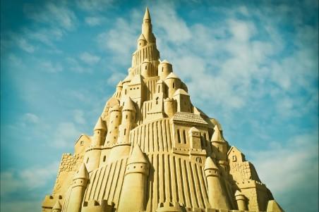 桑德伯格 艺术 沙雕雕塑 沙-雕像 艺术品城堡4k图片