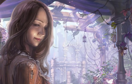 童话故事 花香气味的古老花园3440x1440动漫高清壁纸极品游戏桌面精选