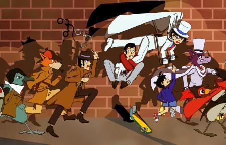名侦探柯南 怪盗、侦探和警察6k动漫图片超高清壁纸推荐