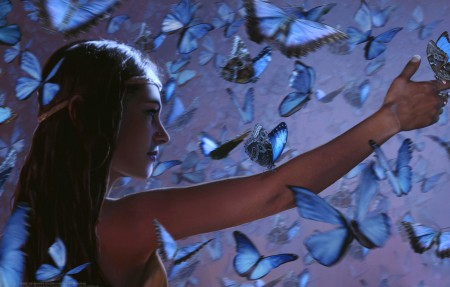 蝴蝶女王4k高端电脑桌面壁纸