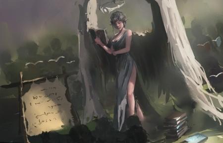 wlop鬼刀 冰公主6K高清壁纸极品游戏桌面精选