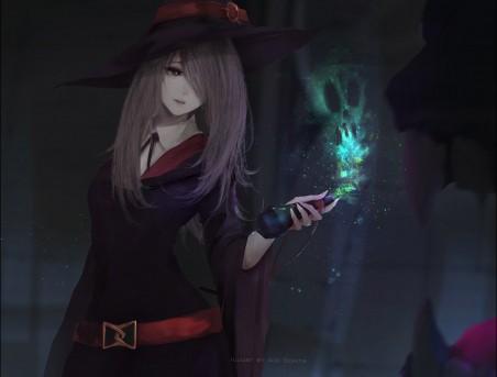 帽子,魔术,小女孩,女巫,4K高端电脑桌面壁纸