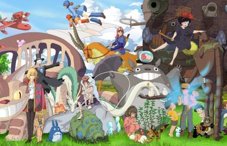 宫崎骏动画,龙猫,魔女宅急便,千与千寻,高清壁纸极品游戏桌面精选