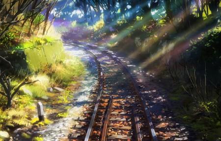 动漫铁路风景3440x1440超高清壁纸推荐