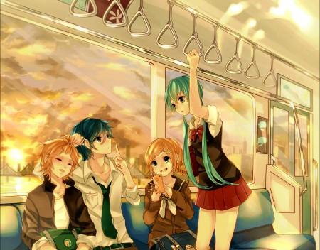 Vocaloid,火车,初音未来,小学生动漫高端电脑桌面壁纸