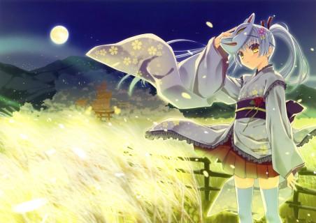 夜晚 面具 月光少女 4K超高清壁纸精选