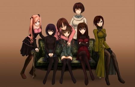 七个动漫美少女4K高端电脑桌面壁纸