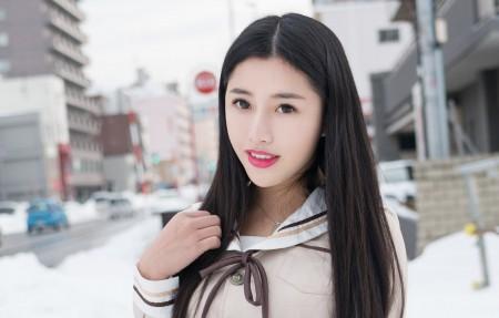 陈嘉嘉Tiffany长发清纯可爱美女4k高端电脑桌面壁纸