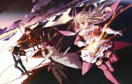 天空 云 武器 女孩 魔术 fate4k动漫高端电脑桌面壁纸