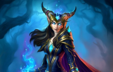 Hearthstone_ Heroes of Warcraft The Witchwood 3440x1440游戏高端电脑桌面壁纸