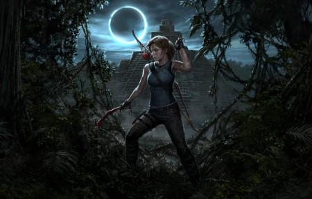 古墓丽影:暗影Shadow of the Tomb Raider女主角4k高端电脑桌面壁纸