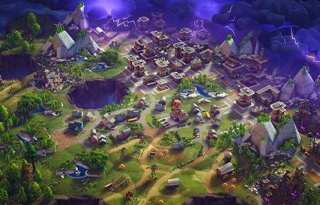 堡垒之夜Fortnite游戏风景3440x1440高端电脑桌面壁纸