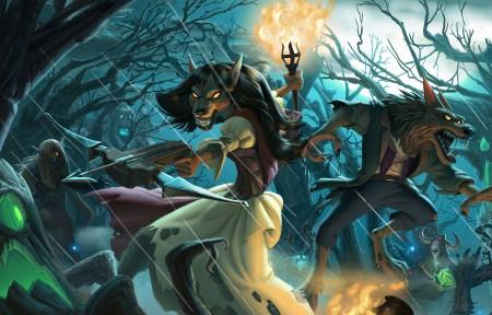 炉石传说Heroes of Warcraft - The Witchwood 3440x1440高端电脑桌面壁纸