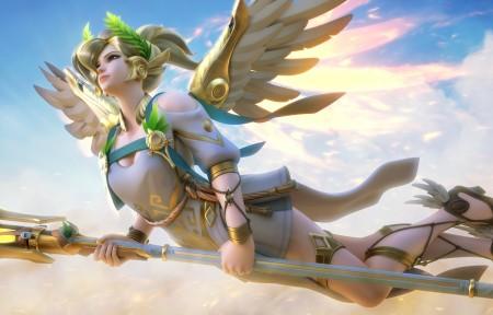 《守望先锋》美女天使3440x1440超高清壁纸精选