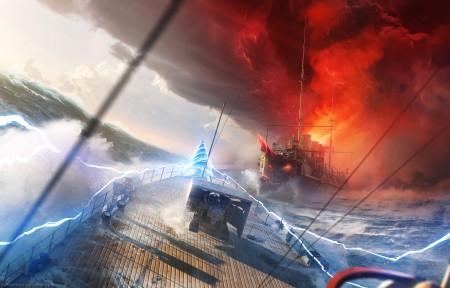 战舰世界World of Warships 5k游戏高清壁纸极品游戏桌面精选