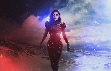 质量效应 艾米莉亚·克拉克Emilia Clarke 4k高端电脑桌面壁纸