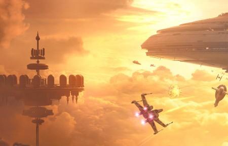 《星球大战 Star Wars Battlefront: Bespin》3840x1080游戏高端电脑桌面壁纸