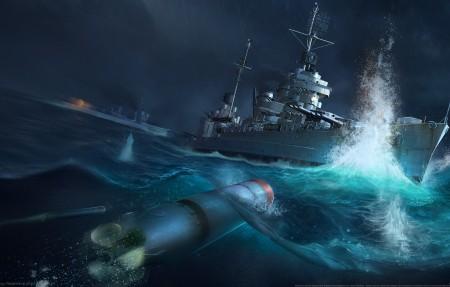 战舰世界(World of Warships)4k游戏高端电脑桌面壁纸