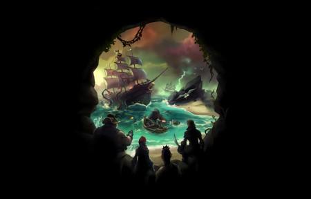 《盗贼之海(Sea of Thieves)》3440x1440壁纸超高清图片下载