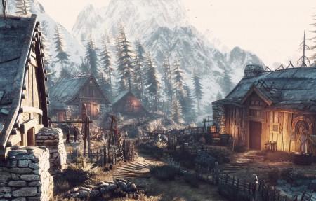 巫师3游戏风景3840x2160高端电脑桌面壁纸