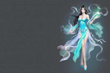 古风美女 艺术 莲花 3D游戏美女4K高端电脑桌面壁纸图片