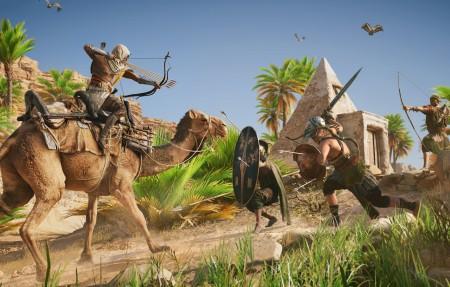 埃及,骆驼,刺客信条起源3840x2160游戏高清壁纸极品游戏桌面精选