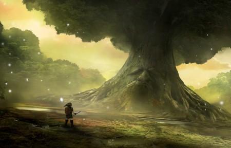 塞尔达传说,大树,游戏风景高清壁纸极品游戏桌面精选