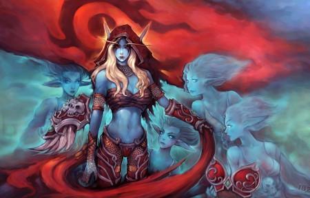 魔兽世界希尔瓦纳斯4K壁纸超高清图片下载