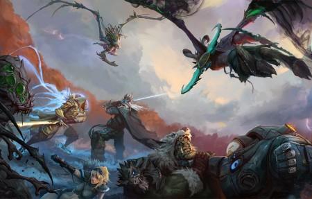 小精灵 星际争霸 暗黑破坏神 英雄联盟4K游戏高端电脑桌面壁纸