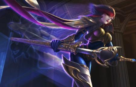《英雄联盟》无双剑姬菲奥娜4K高清图片高端电脑桌面壁纸