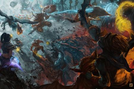 战斗,英雄,dota2游戏4K高端电脑桌面壁纸