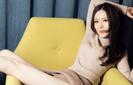 江琴 长发养眼美腿美女 沙发写真 3440x1440高端电脑桌面壁纸