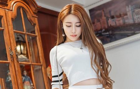 长发美女模特Abby黎允婷3440x1440高清壁纸极品游戏桌面精选