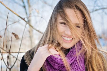 女孩 脸 微笑 睫毛 6K图片