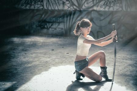 女孩 剑 4K美女超高清壁纸精选