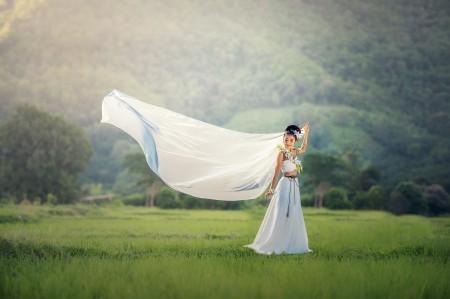 新娘 漂亮 可爱 连衣裙 5K美女图片
