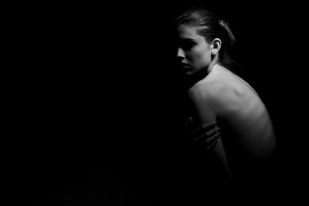 美女裸背写真 黑白照片 5K图片