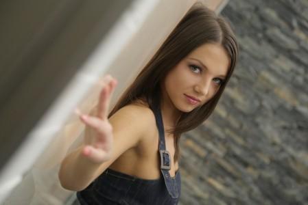棕色头发性感美女摄影5K图片
