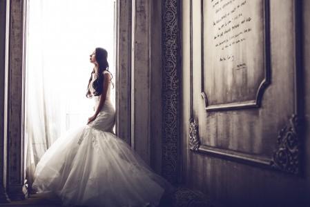 婚纱 城堡 新娘4K图片